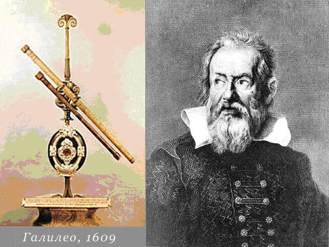 Галилео Галилей и его телескоп