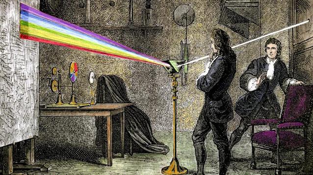 Опыт Исаака Ньютона с призмой