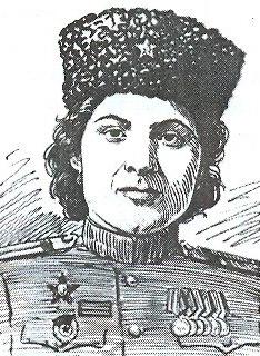 Гвардии старшина, командир взвода конной разведки Халимат ЭБЗЕЕВА