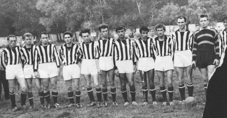 Чемпион г. Черкесска по футболу - команда обувной фабрики «Кубань» (начало 1960-х)