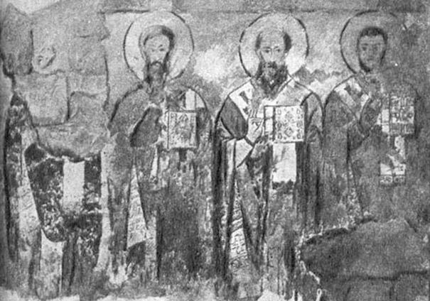 Сентинский храм. Апостолы. Рис. И. Владимирова, 1902 г.