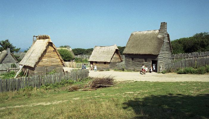 Так выглядела деревня пилигримов в 1620 году