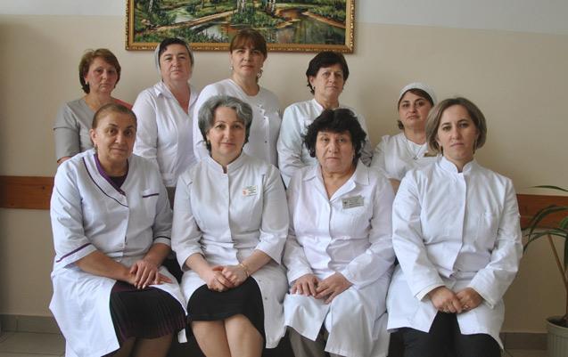 Медицинские работники пульмонологического отделения Карачаево-Черкесской республиканской клинической больницы